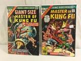 Lot of 2 Pcs Collector Vintage Comics Master Of Kung Fu Comic Books No.1.2.