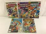 Lot of 5 Pcs Collector Vintage Marvel Fantastic Four Comic Books No.203.204.205.207.305.