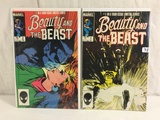 Lot of 2 Pcs Collector Vintage Marvel Comics Beauty and The Beast Comic Books No.1.2