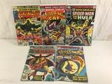Lot of 5 Pcs Collector Vintage Marvel Team-Up Spider-man Comic Books No.2.8.14.39.49.