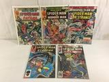 Lot of 5 Pcs Collector Vintage Marvel Team-Up Spider-man Comic Books No.50.78.81.82.143.