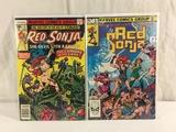 Lot of 2 Pcs Collector Vintage Marvel Comics Red Sonja Comic Books No.2.4.