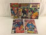 Lot of 5 Pcs Collector Vintage Marvel Comics The New Mutants Comic Books No.4.73.87.88.89.