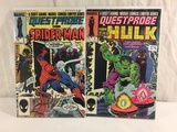 Lot of 2 Pcs Collector Vintage Marvel Comics Questprobe feature The Hulk Comic Books NO.1.2.