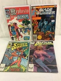 Lot of 4 Pcs Collector Vintage Assorted Marvel Comics Blade Runner Comic Books No.1.4.27.49.
