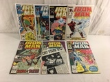 Lot of 7 Pcs Collector Vintage Iron Man Comic Books No.219.220.222.223.242.243.253. Comic Books