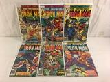 Lot of 6 Pcs Collector Vtg Marvel The Invincible Iron Man Comic Books No.102.105.107.108.110.111.