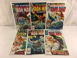 Lot of 6 Pcs Collector Vtg Marvel The Invinicble Iron Man Comic Books No.124.134.156.157.158.159.