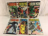 Lot of 6 Pcs Collector Vtg Marvel The Invinicble Iron Man Comic Books No.189.190.193.194.195.196.