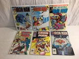 Lot of 6 Pcs Collector Vtg Marvel The Invinicble Iron Man Comic Books No.168.197.198.199.201.202.