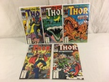 Lot of 5 Pcs Collector Vintage Marvel The Mighty Thor Comic Books No.379.380.381.383.384.