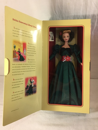 "NIB Collector Hallmark Holiday Sensation Barbie Doll Box: 13.5""x7"""