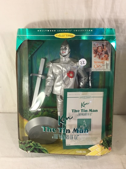 "NIB Collector The Wizard Of Oz The Tin Man Ken Doll Box: 13.5""x10.5"""