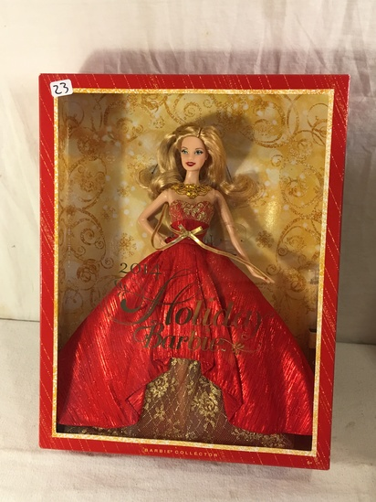 "NIB Collector 2014 Holiday Barbie Doll Box: 13.5""x10.5"""