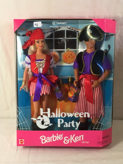 "NIB Collector Target Special Edition Halloween Party Barbie & Ken Doll Box: 13""x10"""
