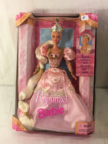 "NIB Collector Rapunzel Barbie Doll Box: 13""x9.5"""