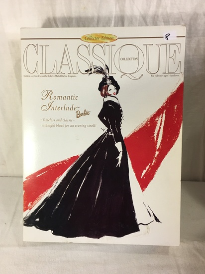 "NIB Collector Classique Romantic Interlude Barbie Doll Box:13.5""x10"""