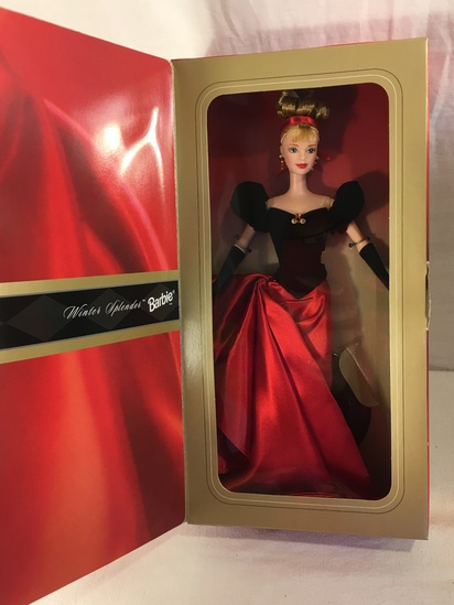 "NIB Collector Avon Exclusive Winter Splendor Barbie Doll Box: 13""x7"""