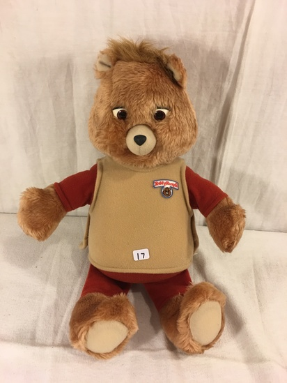 "Collector Vintage 1985 Alchemy II World's of Wonder Teddy Ruxpin Animated Talking Teddy Bear 15"" tal"