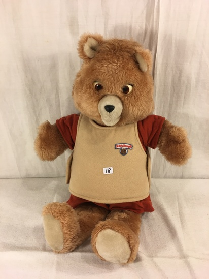 "Collector Vintage 1985 Alchemy II World's of Wonder Teddy Ruxpin Animated Talking Teddy Bear 19"" tal"