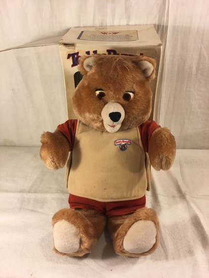 Collector Vintage 1985 Alchemy II World's of Wonder Teddy Ruxpin Animated Talking Teddy Bear w/ box