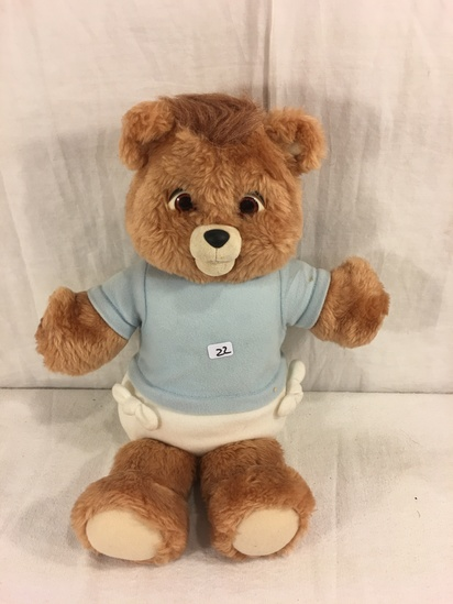 Collector Vintage 1987 Alchemy II World's of Wonder Baby Teddy Ruxpin Animated Talking Teddy Bear 16