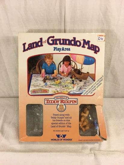 Collector Vintage 1985 Alchemy II World's of Wonder Teddy Ruxpin Land of Grundo Map Play Area Missin