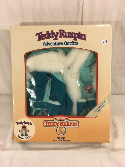 "Collector NIP Vintage 1985 Alchemy II WOW Teddy Ruxpin Adventure Outfits ""Winter Outfit"" box: 13""x11"