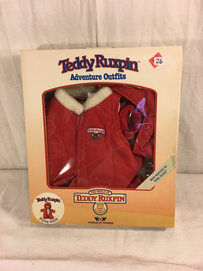 "Collector NIP Vintage 1985 Alchemy II WOW Teddy Ruxpin Adventure Outfits ""Flying Outfit"" box: 13""x11"