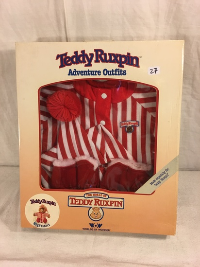 "Collector NIP Vintage 1985 Alchemy II WOW Teddy Ruxpin Adventure Outfits ""Nightshirt"" box: 13""x11"""