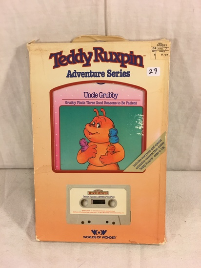 "Collector Vintage 1985 Alchemy II WOW Teddy Ruxpin ""Uncle Grubby"" Cassette Tape & Storybook in Box"