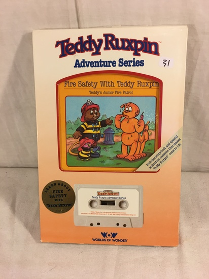 "Collector Vintage 1985 Alchemy II WOW ""The Safety w/ Teddy Ruxpin"" Cassette Tape & Storybook in Box"