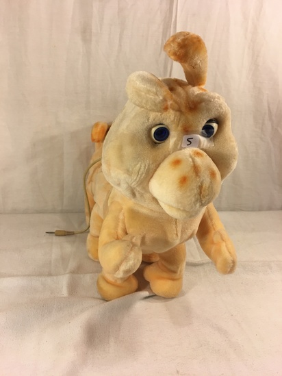 "Collector Vintage 1985 Alchemy II World's of Wonder Grubby Animated Talking Stuffed Animal 18"" w/ Co"