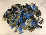 Collector Marx Toys Assorted Black, Blue, Gold & Silver Medieval Knights Action Posed Plastic Model