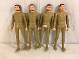 Lot of 4 pcs Collector Reissue Louis Marx Sir Gordon The Gold Knight Poseable Action Figures 11.5