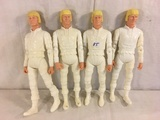 Lot of 4 pcs Collector Reissue Louis Marx Erik The Viking Warrior Poseable Action Figures 11.5
