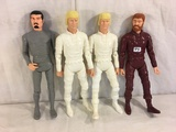 Lot of 4 pcs Collector Reissue Louis Marx Assorted Poseable Action Figures 11.5
