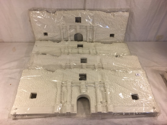 "Lot of 4 Pieces Collector Marx Sealed Plastic  White Castle Size each: 21 by 8"" - See Pictures"