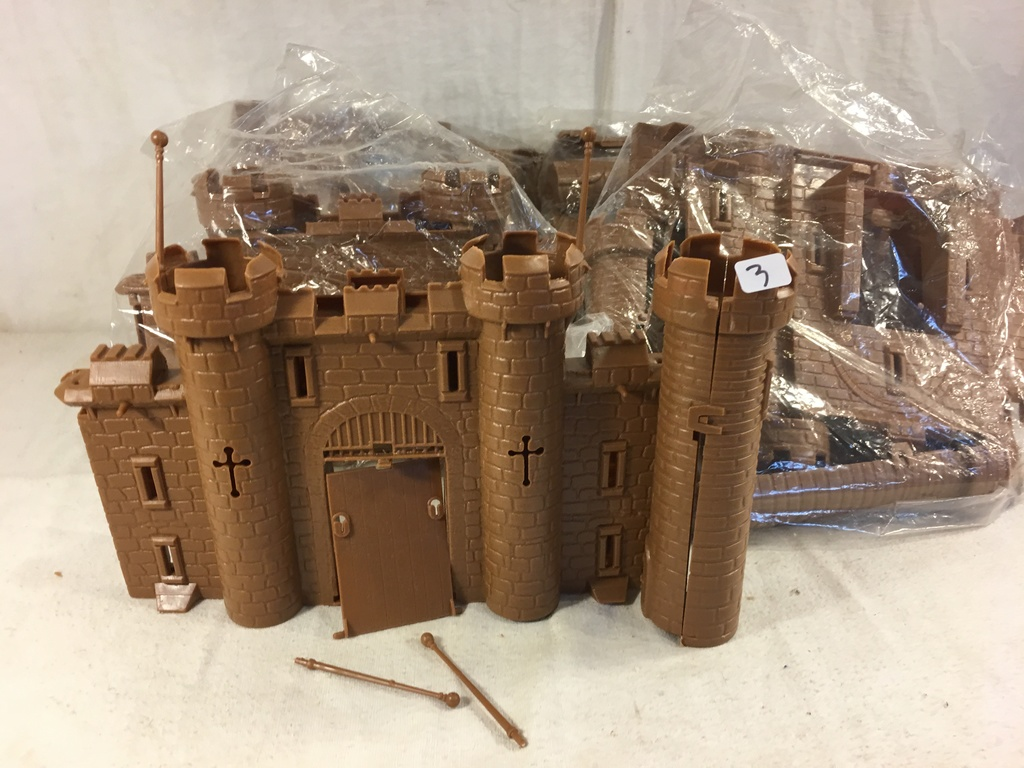 Lot of 5 Pieces Collector Loose Plastic Marx Miniatures Castle Loose - See Pictures