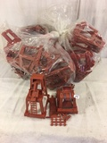 Lot of 10 Pieces Collector Marx Brown Plastic Accessory Toys - See Pictures