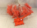 Lot of 10 Pieces Collector Marx Orange Color Plastic Accessory Toys - See Pictures
