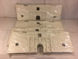Lot of 4 Pieces Collector Marx Sealed Plastic  White Castle Size each: 21 by 8