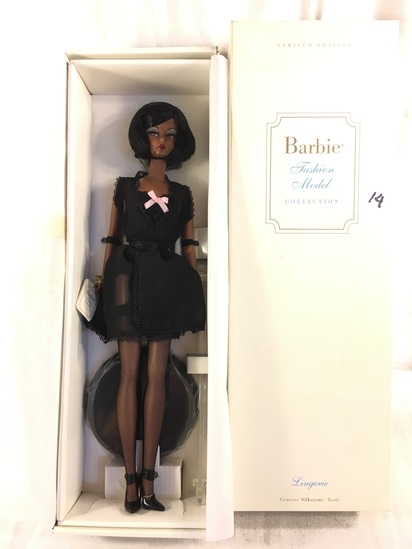 "NIB Collector Genuine Silkstone Body Lingerie Fashion Model Barbie Doll Box: 13.5""x4.5"""