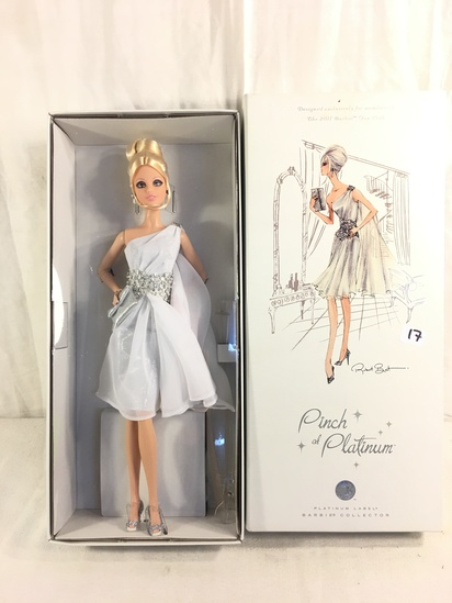 "NIB Collector Platinum Label ""Pinch of Platinum"" Barbie Doll Designed Exclusively for 2011 Barbie Fa"