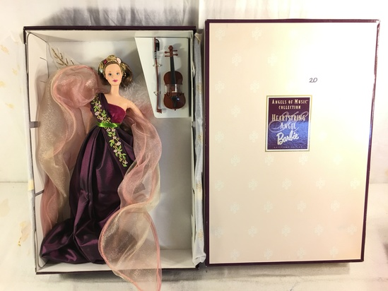 "NIB Collector Angels of Music Collection Heartstring Angel Barbie Doll Box: 15.5""x11"""