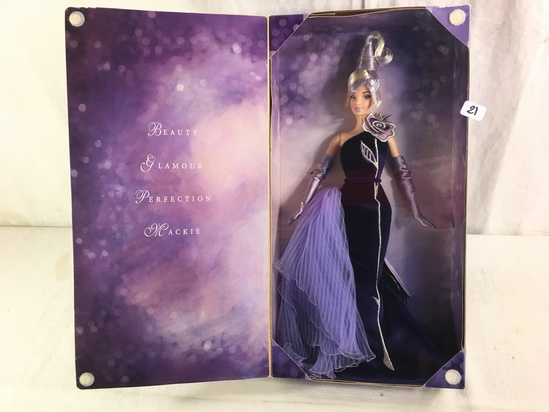 NIB Collector The Sterling Silver Rose By Bob Mackie Barbie Doll Designed Exclusively for AVON Box: