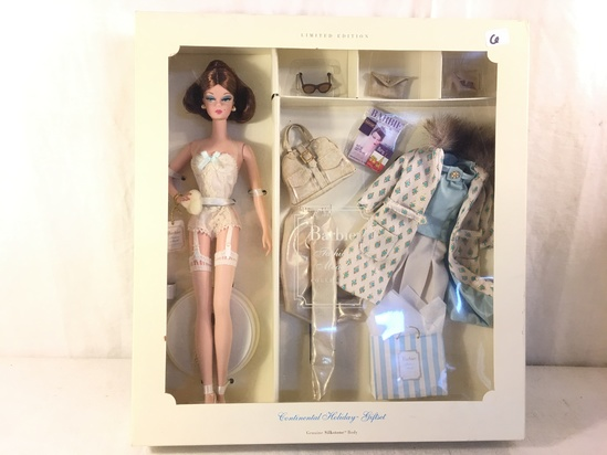 "NIB Collector Genuine Silkstone Body ""Continental Holiday Giftset"" Fashion Model Barbie Doll Box: 13"