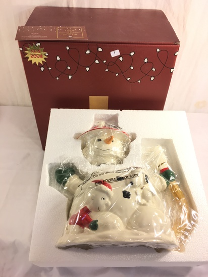 """Collector Lenox Peanuts 2004 Snoopy's Christmas Teapot For The Holiday Box Size: 13.5x13.5x9"""""""