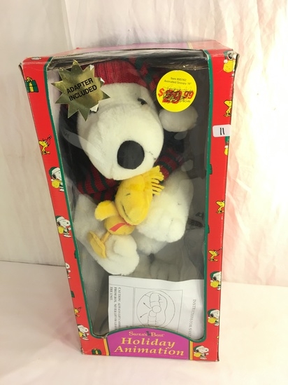 """Collector Peanuts Snoopy Santa 's Best Christmas Holiday Animation Toy Size: 18""""tall Box"""