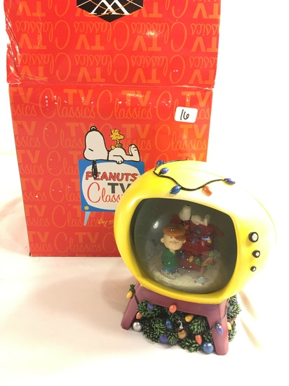 "Collecor Westland Peanuts a Charlie Brown Christmas Water Globe Box Size: 7""tall Box"